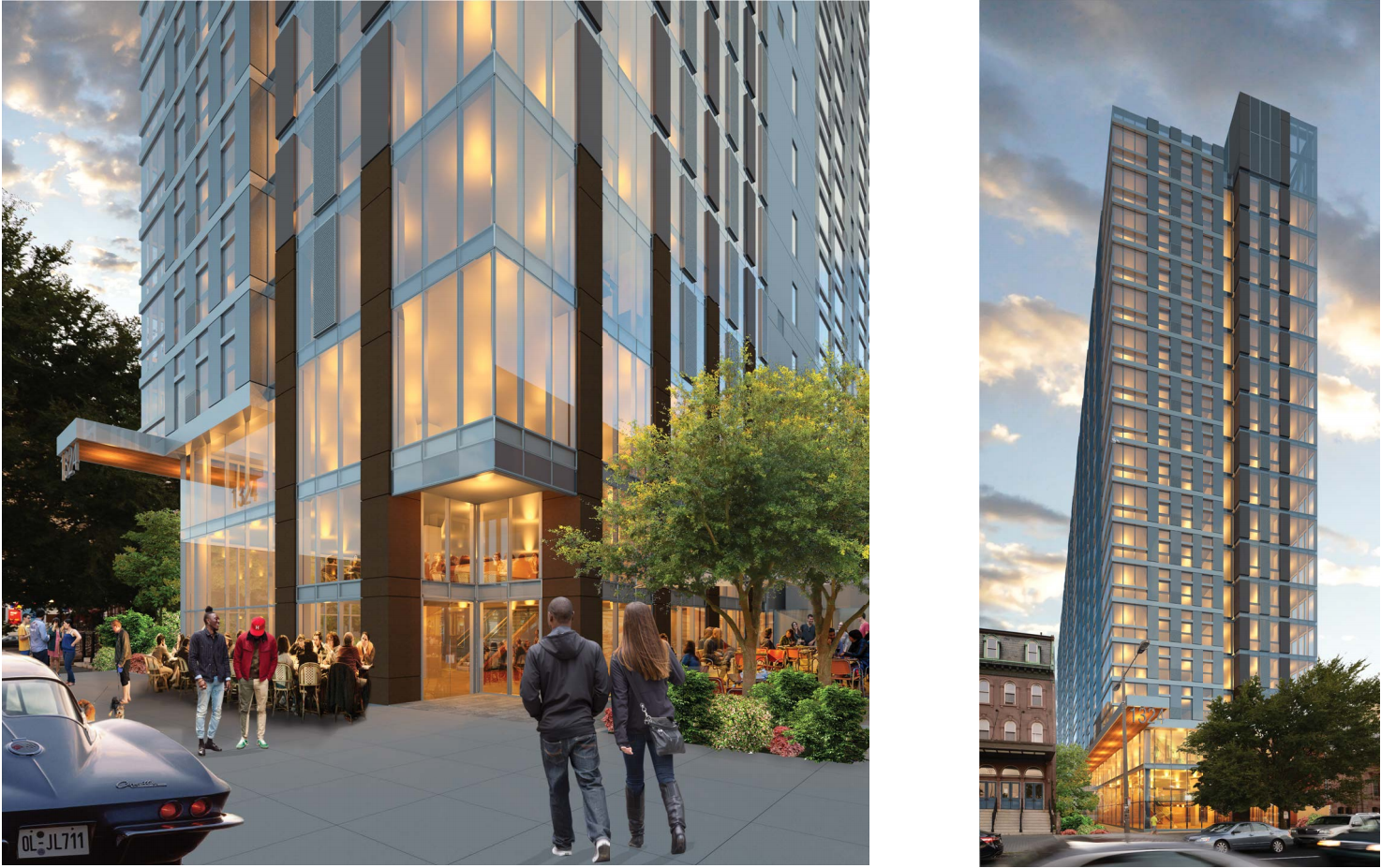 1324 N. Broad: Rendering from Broad Street | Cecil Baker + Partners, Nov. 2016 CDR presentation