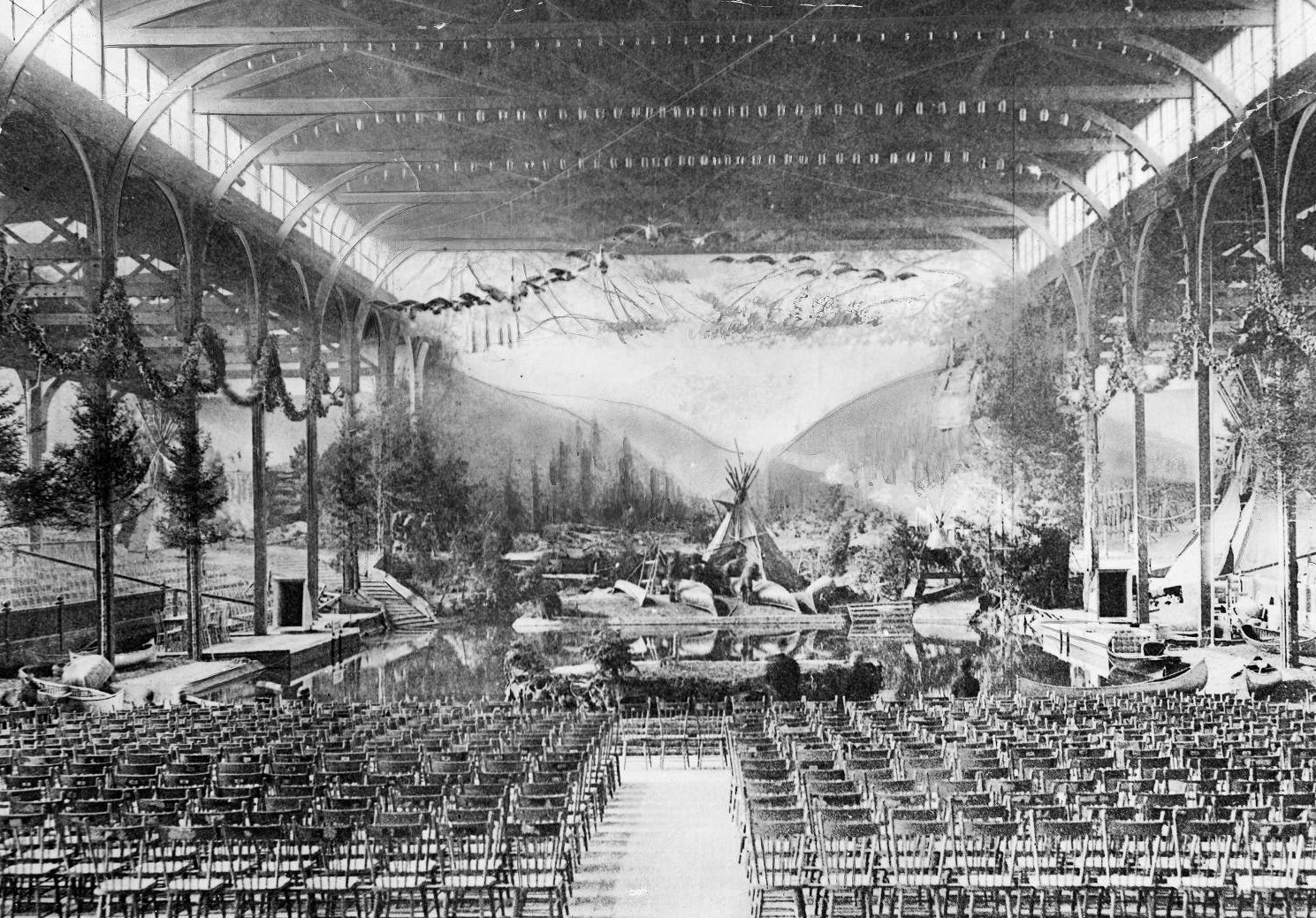 1900 Republican Convention in Philadelphia included a theatrical Native American stage setting | Evening Bulletin | Special Collections Research Center, Temple University Libraries, Philadelphia, PA