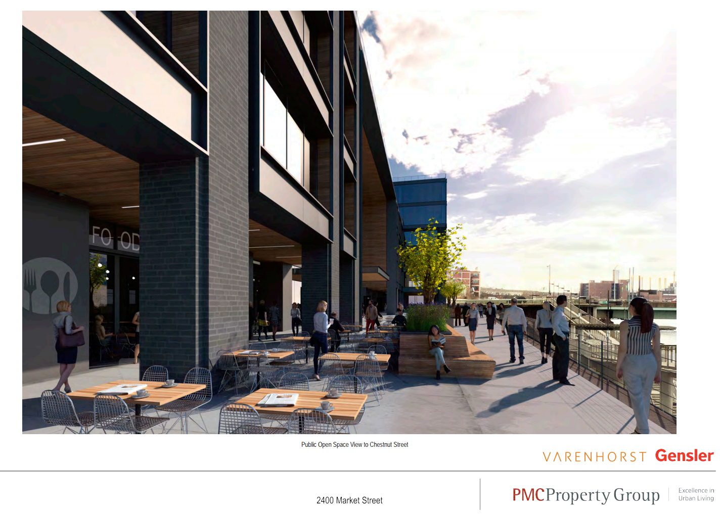 2400 Market: Promenade looking toward Chestnut Street | CDR presentation, November 2016 - Varenhorst / Gensler