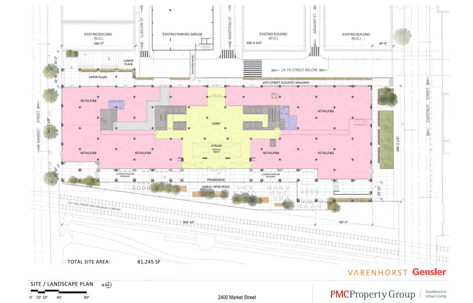 2400 Market: Site plan | CDR presentation, November 2016 - Varenhorst / Gensler