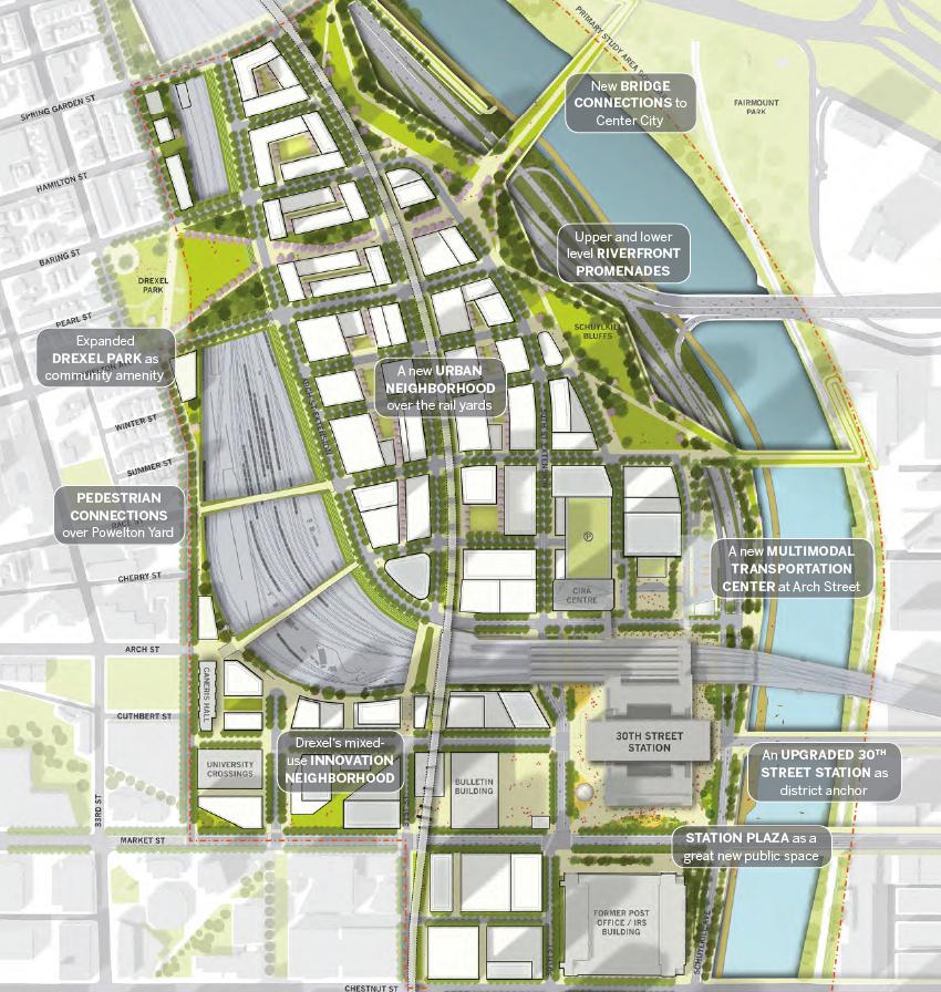 map of philadelphia 30th street station 30th Street Station District Draft Plan Reopen Septa Tunnel By map of philadelphia 30th street station