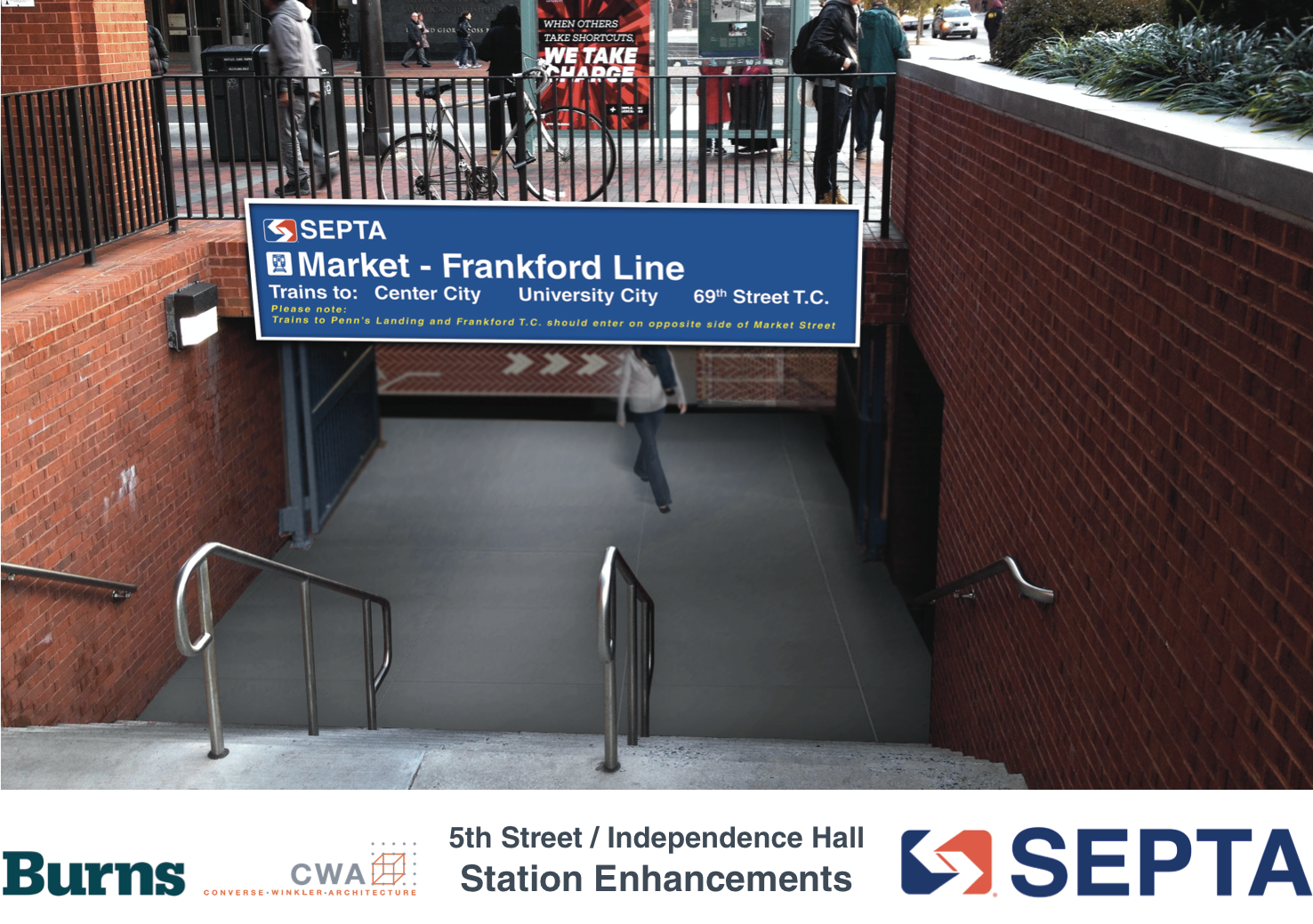 5th Street / Independence Hall: NE entrance will see limited changes | courtesy of SEPTA