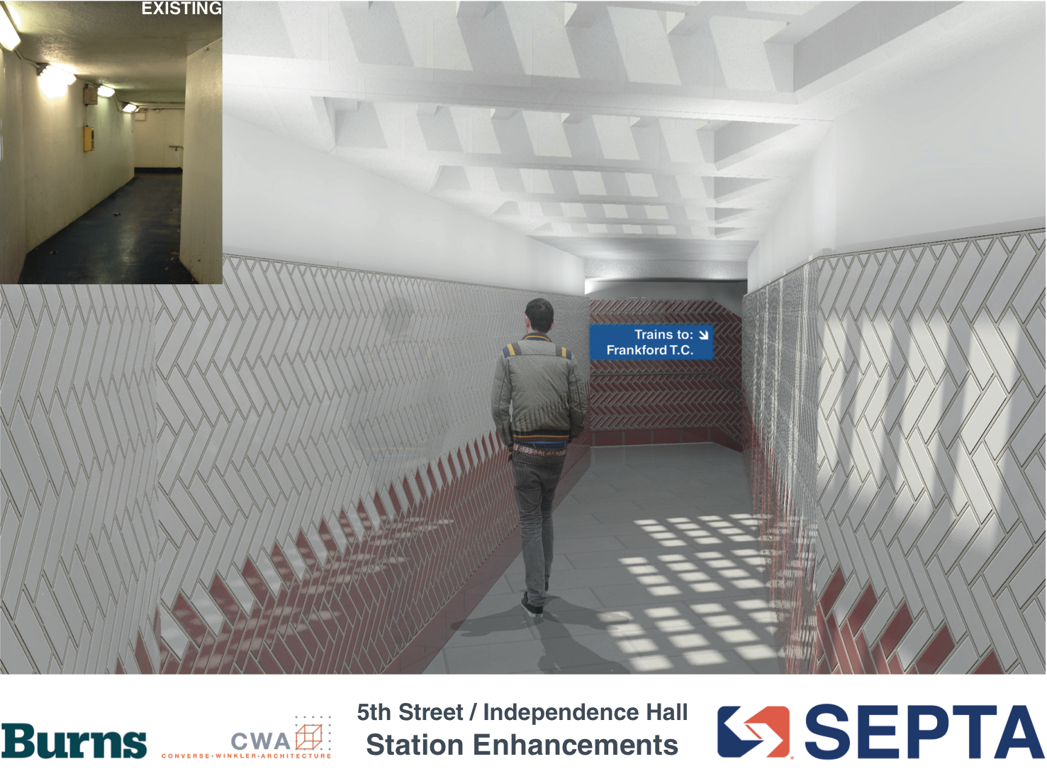 5th Street / Independence Hall: Passageway rendering | courtesy of SEPTA
