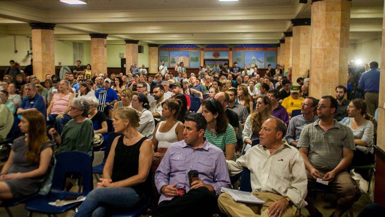 A packed house for St. Laurentius zoning meeting, September 20, 2016 | Brad Larrison for NewsWorks