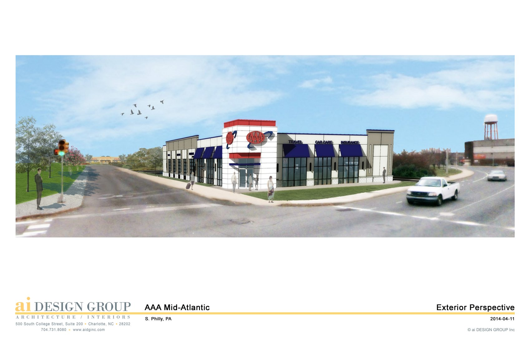 AAA rendering for proposed Columbus Ave. store