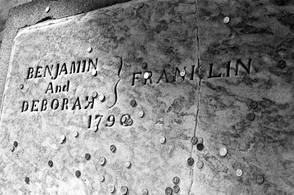 Benjamin and Deborah Franklin's gravestone | Michael Klusek, EOTS Flickr Group