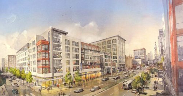 Broad and Callowhill rendering