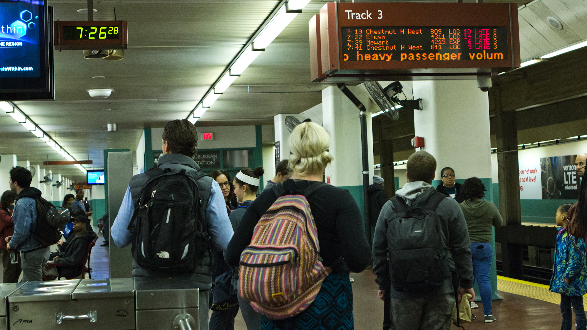 Commuters during SEPTA strike wait for slow Regional Rail trains | Kimberly Paynter / WHYY