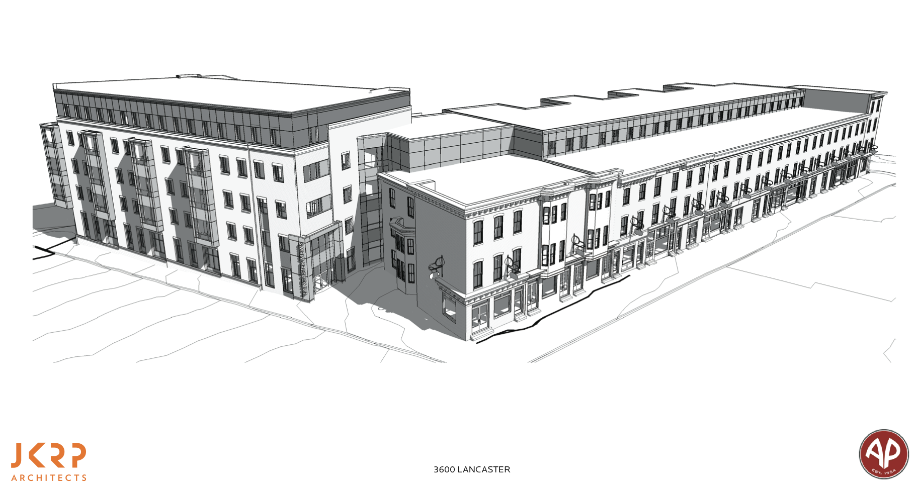 Conceptual plan for Lancaster Mews presented at Architectural Committee, May 2016