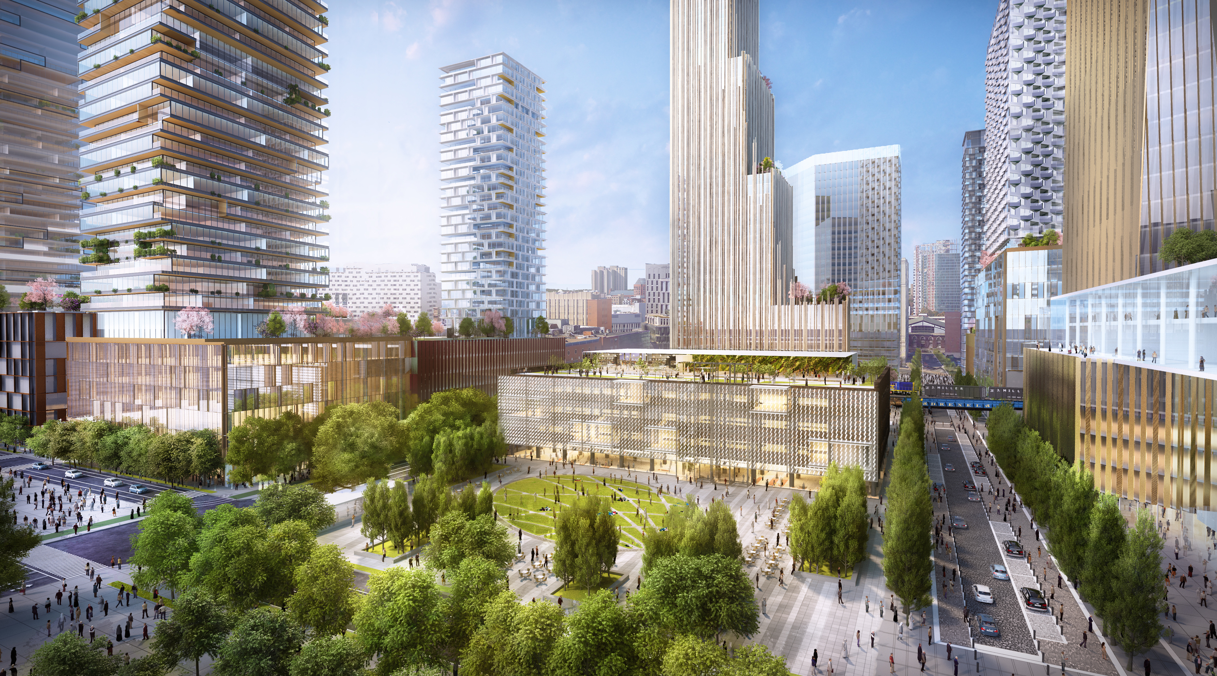 Conceptual rendering of Drexel Square at JFK Boulevard