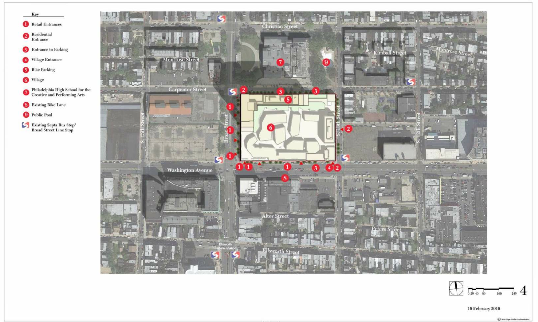 Contextual site plan, Broad and Washington, Feb. 2016 | Cope Linder Architects