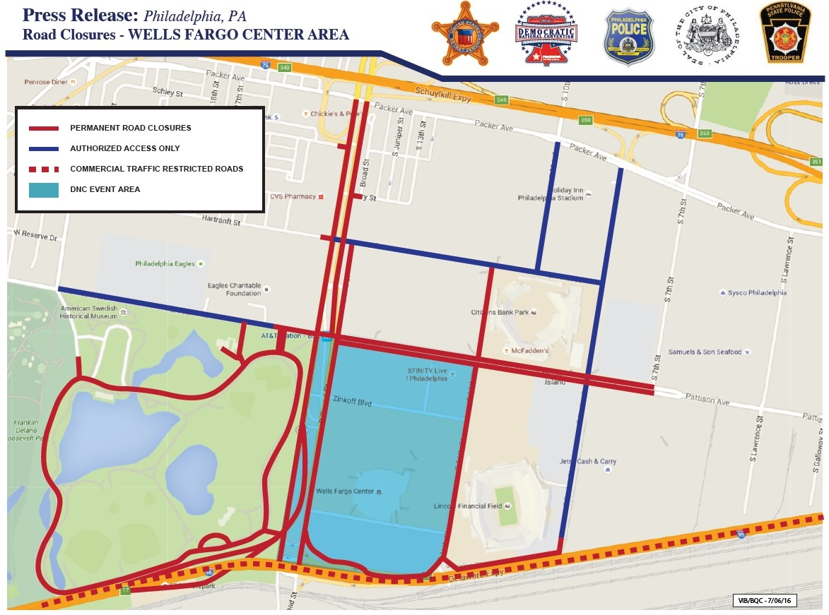 DNC Road Closure and Restriction Map