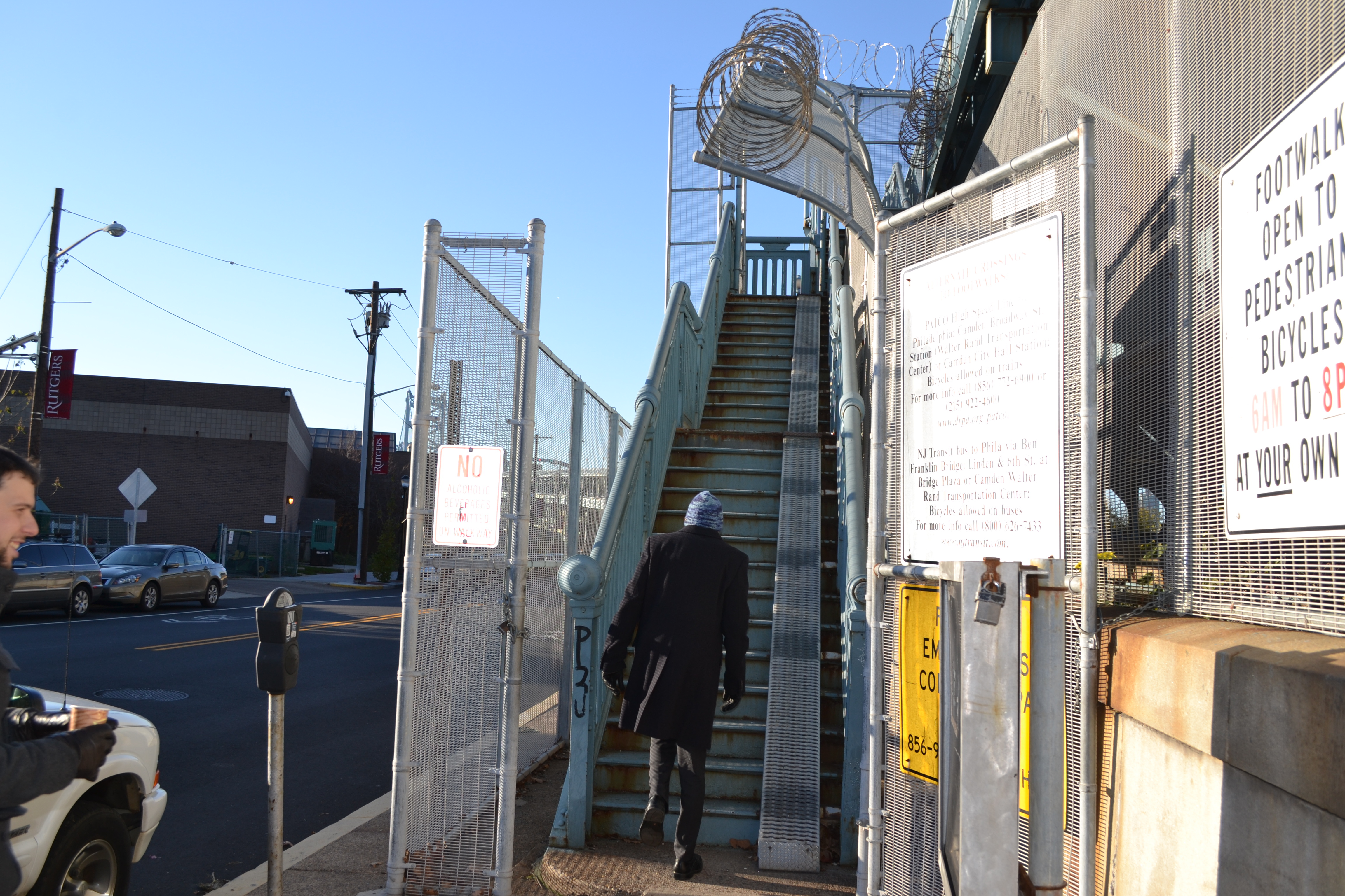 DRPA received $400,000 to replace the stairs up to the Ben Franklin Bridge with an ADA-compliant bicycle and pedestrian ramp
