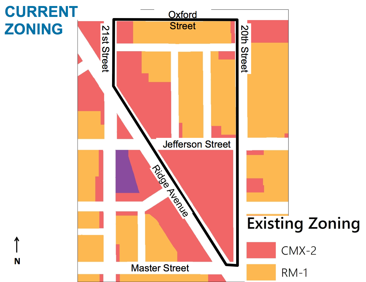 Existing rezoning for PHA headquarters and Ridge Ave