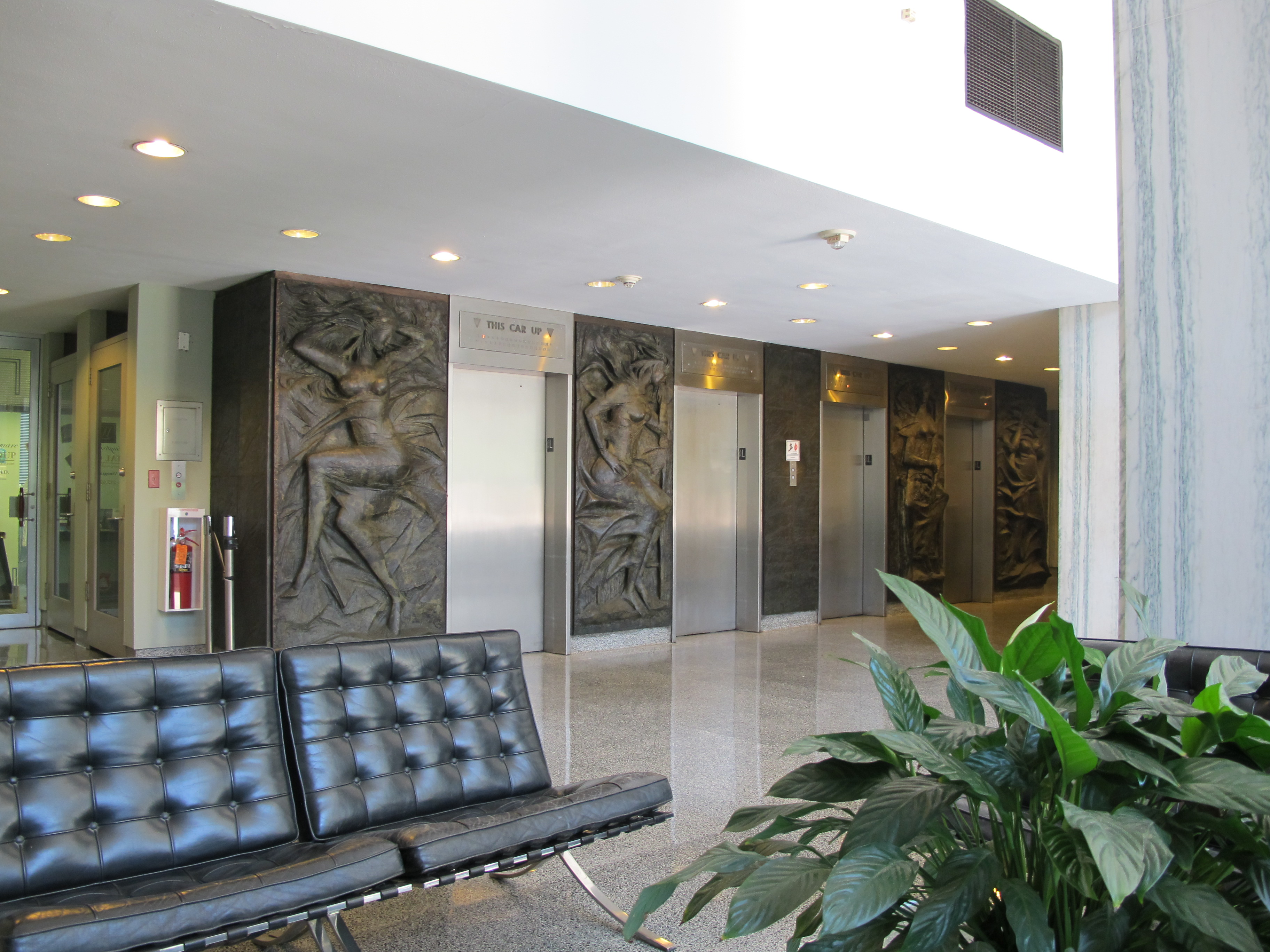 Hopkinson House interior lobby.