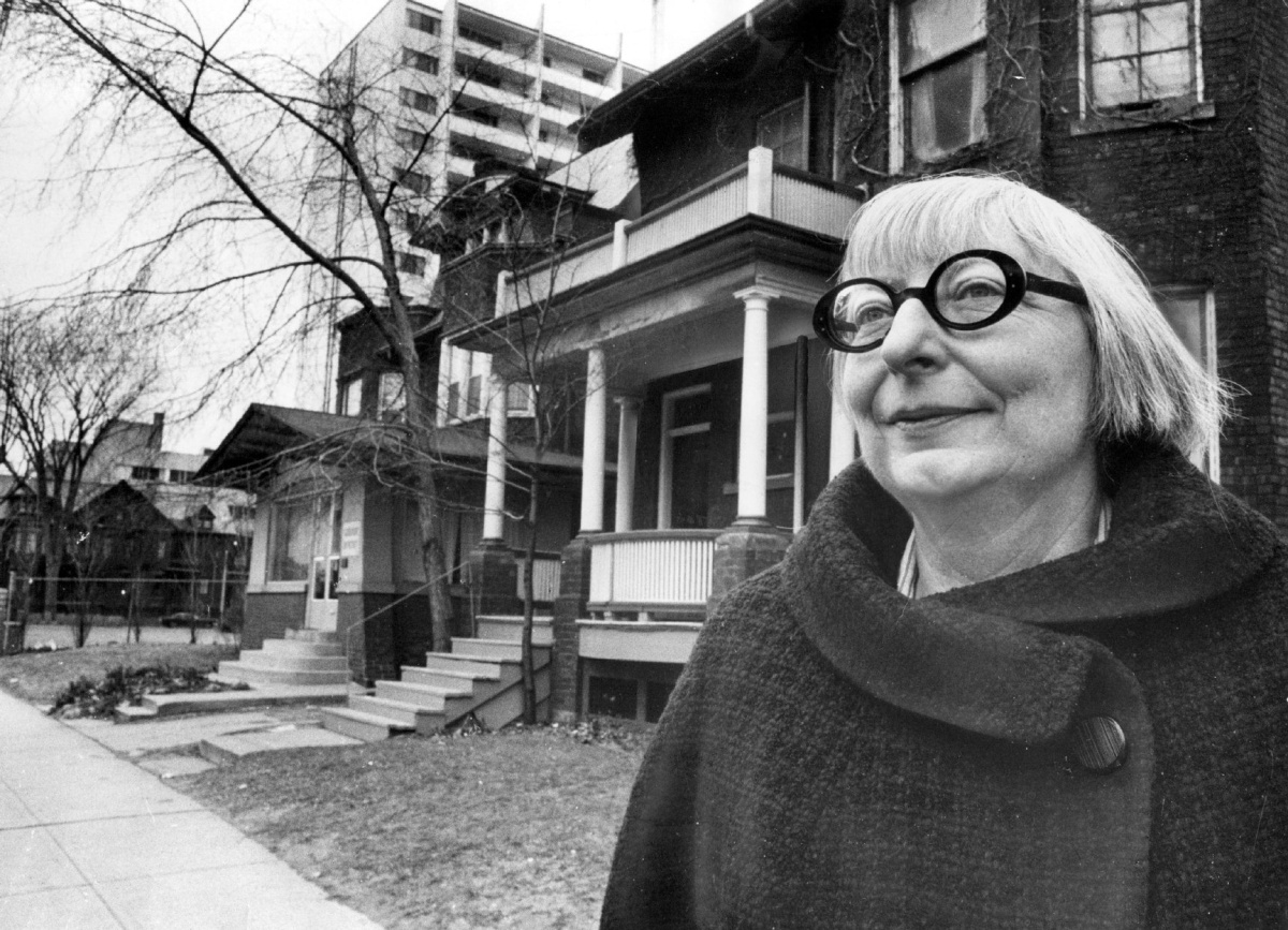 Jane Jacobs at home in Toronto