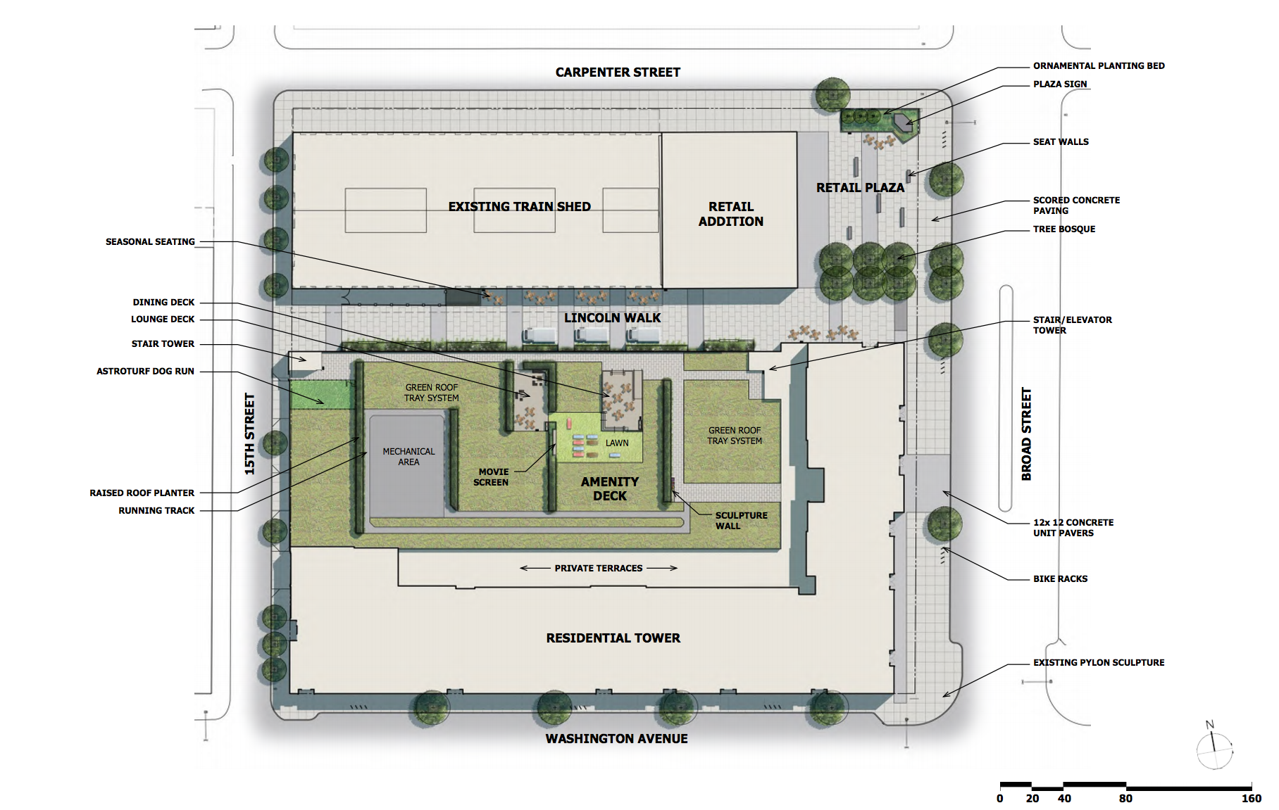 Lincoln Square: site plan | BLTArchitects, Nov. 2016 CDR presentation