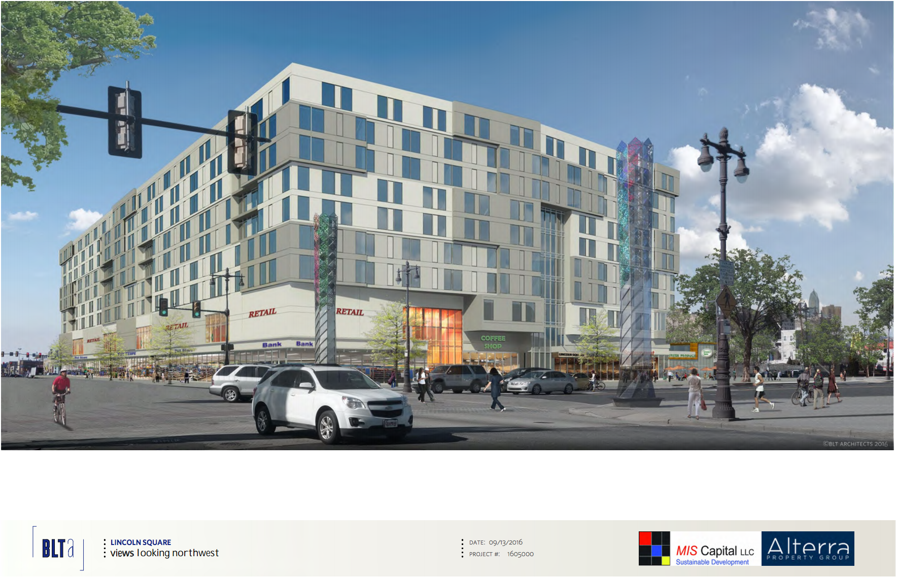 Lincoln Square: View looking NW | BLTArchitects, Nov. 2016 CDR presentation