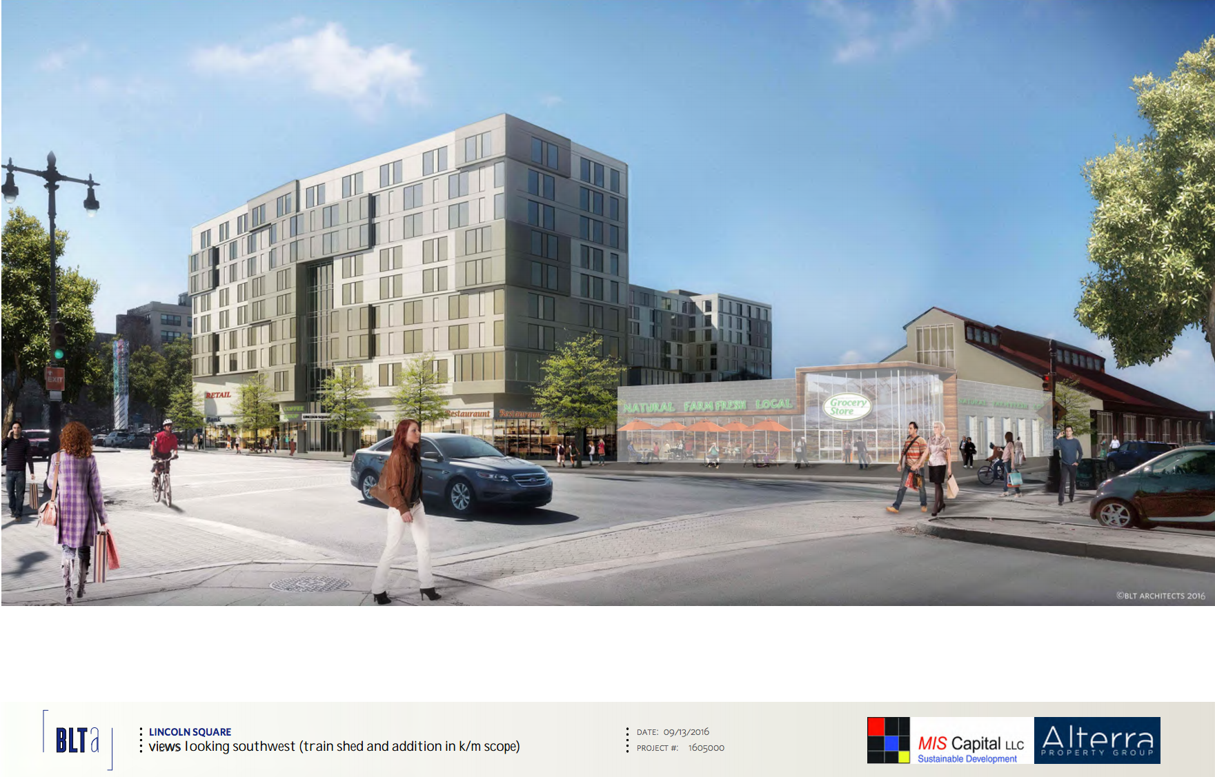 Lincoln Square: view looking SW | BLTArchitects, Nov. 2016 CDR presentation