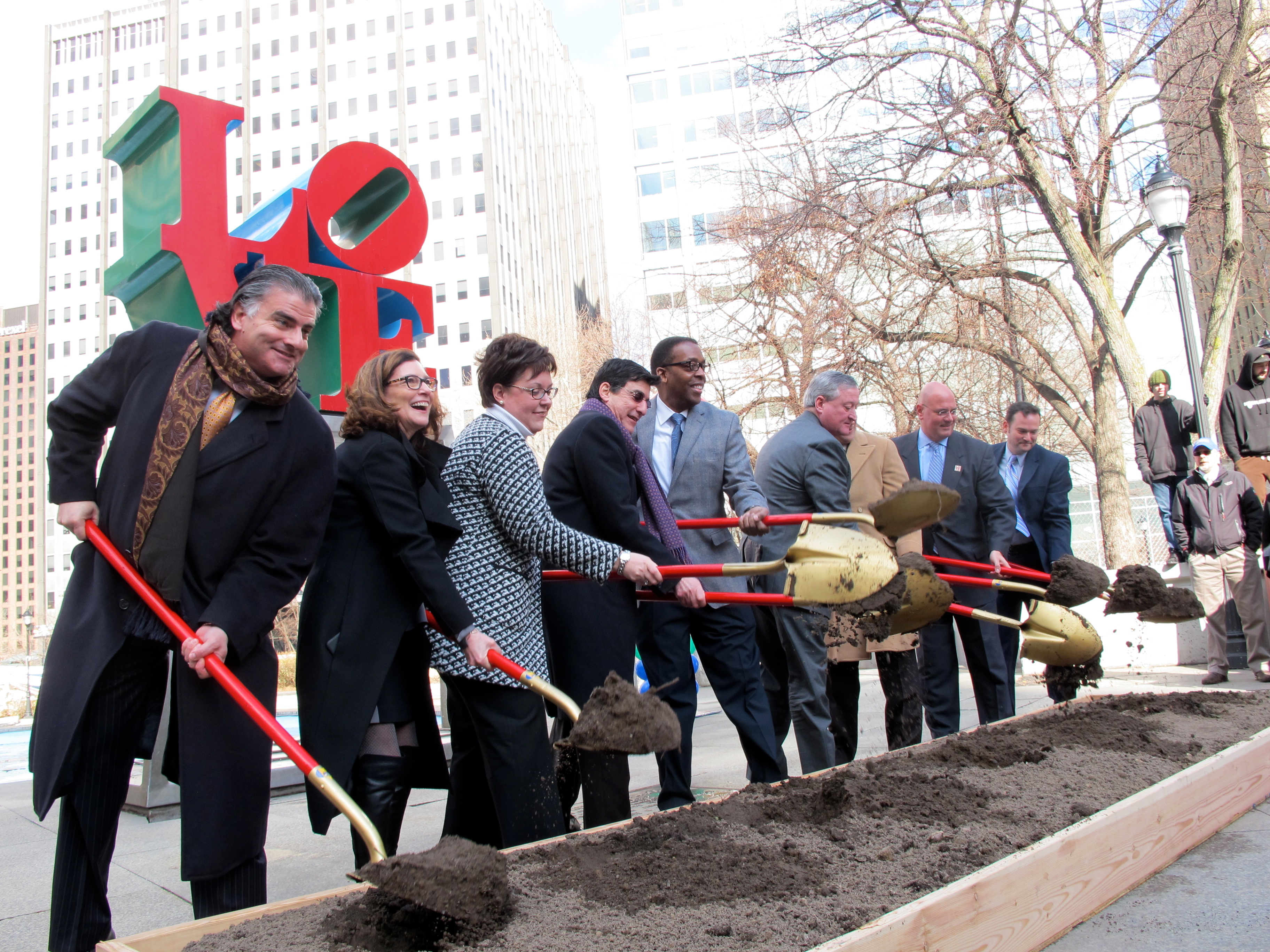 LOVE Park groundbreaking, February 2016