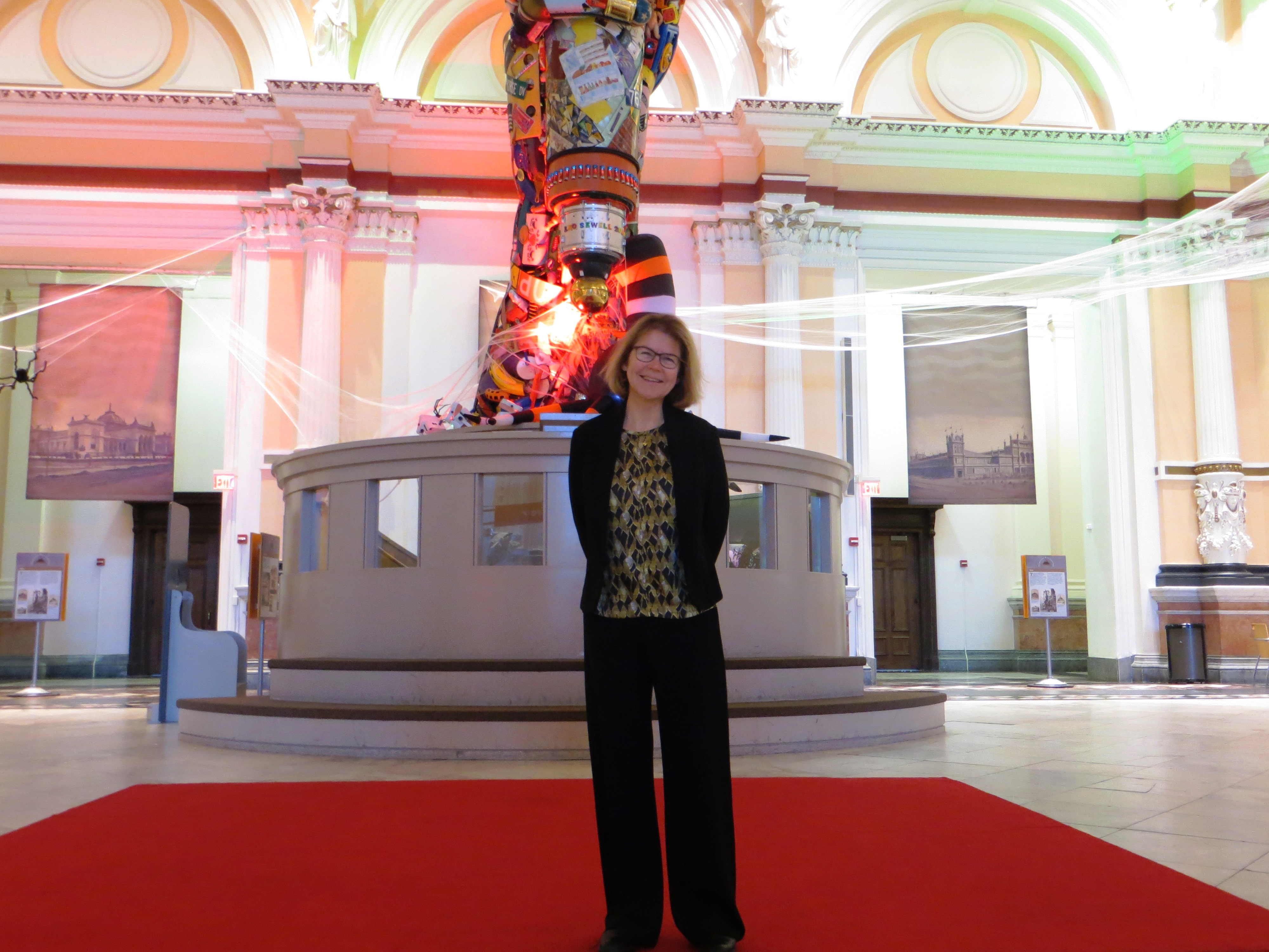 Lynn McMaster, president and CEO of the Please Touch Museum, in the rotunda of the museum.