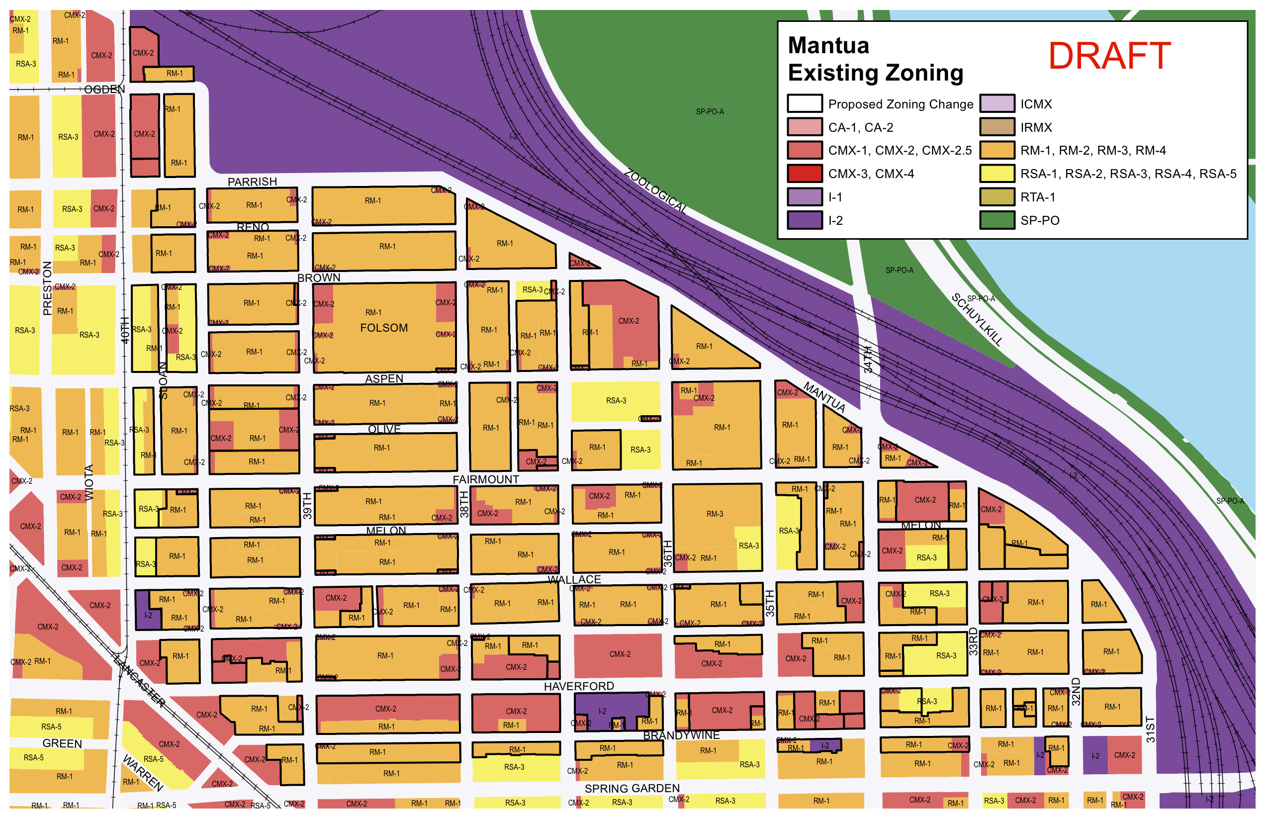 Mantua Existing Zoning, June 2016