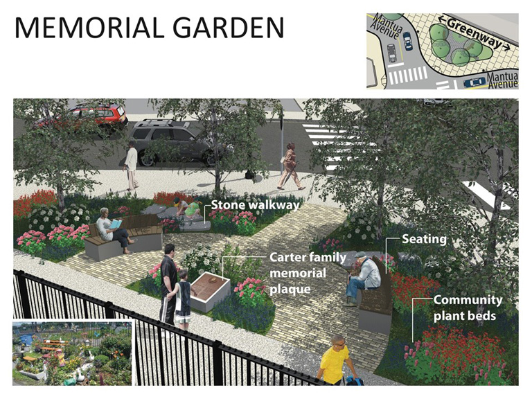 Mantua Greenway: Memorial Garden