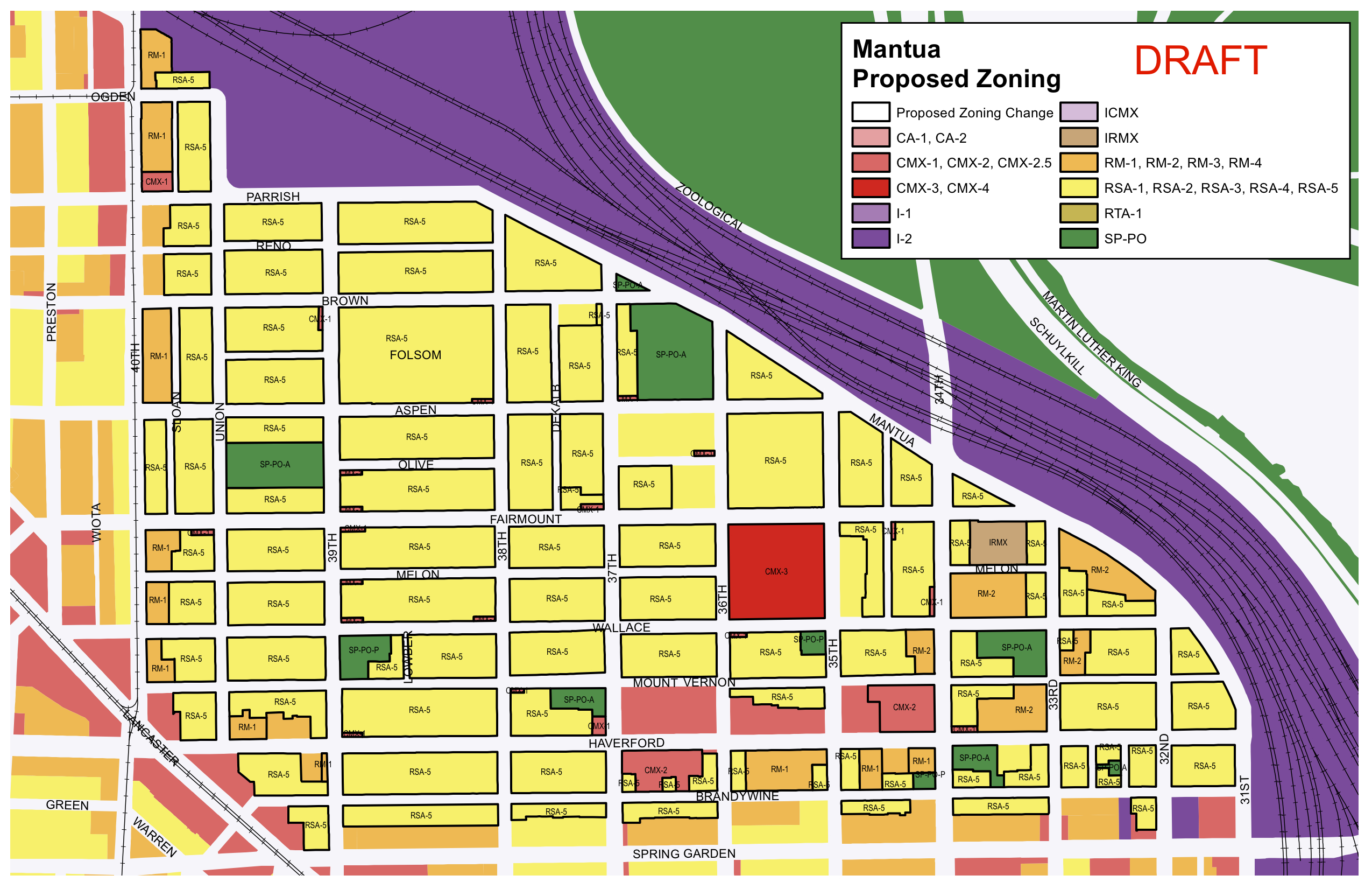 Mantua Proposed Zoning, June 2016