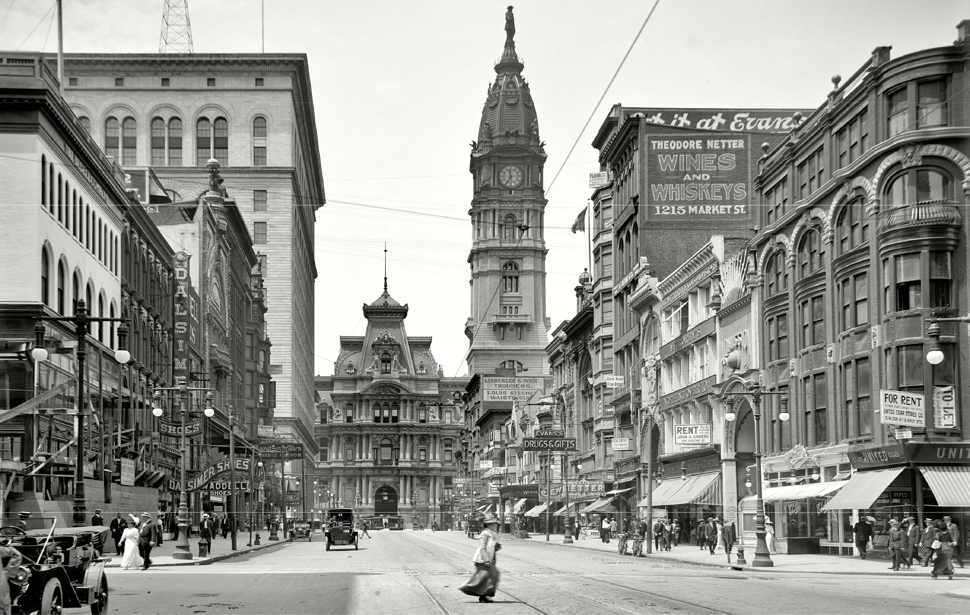 Market Street in the early 20th century | courtesy of Center City District