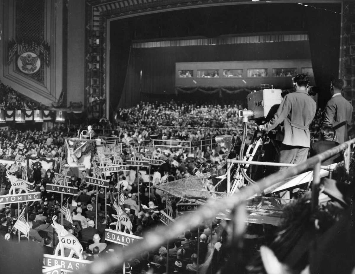 NBC filming inside the 1940 Republican Convention in Philadelphia | Evening Bulletin | Special Collections Research Center, Temple University Libraries, Philadelphia, PA