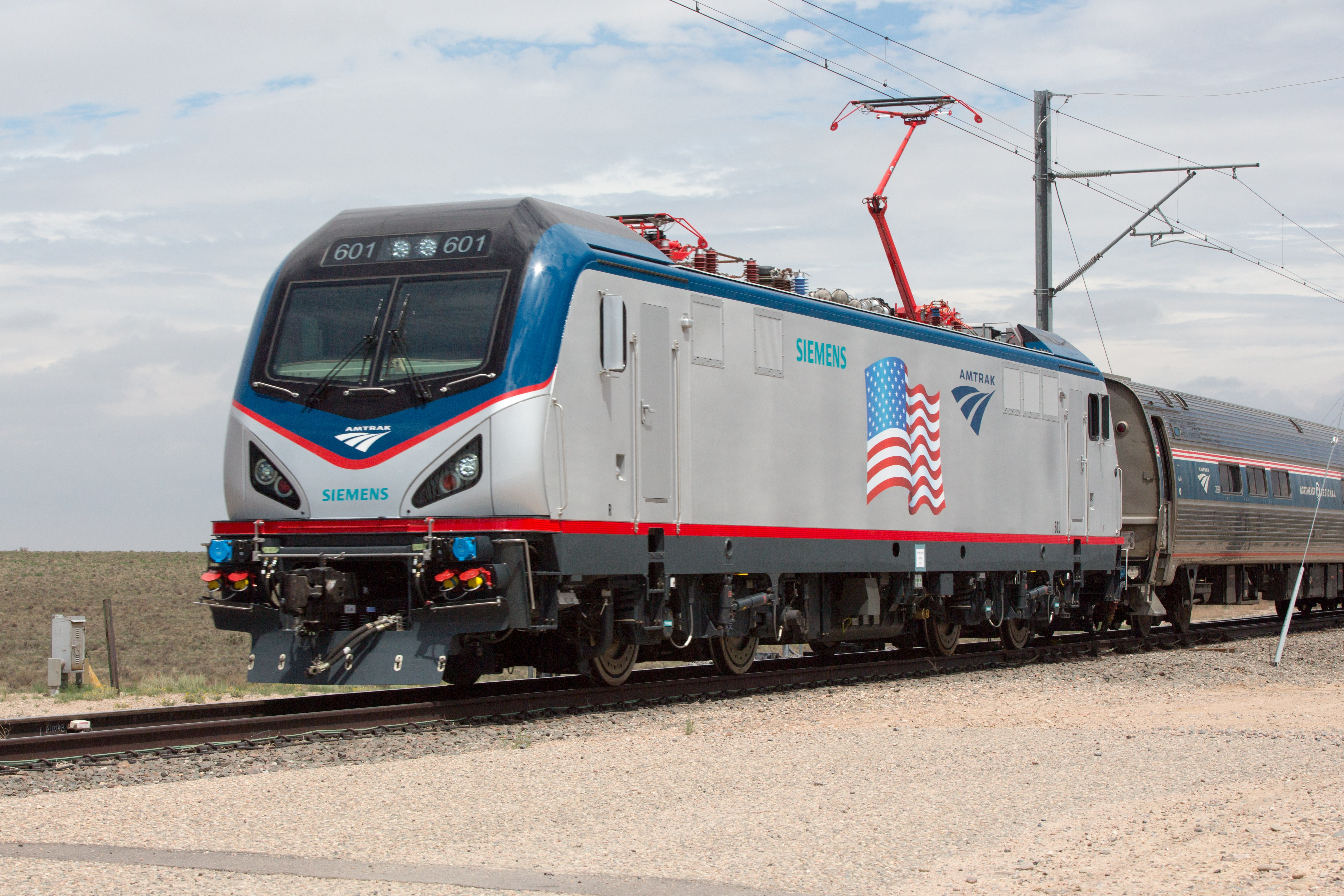 One of the new Amtrak Cities Sprinter ACS-64 locomotives, Photo courtesy of Amtrak