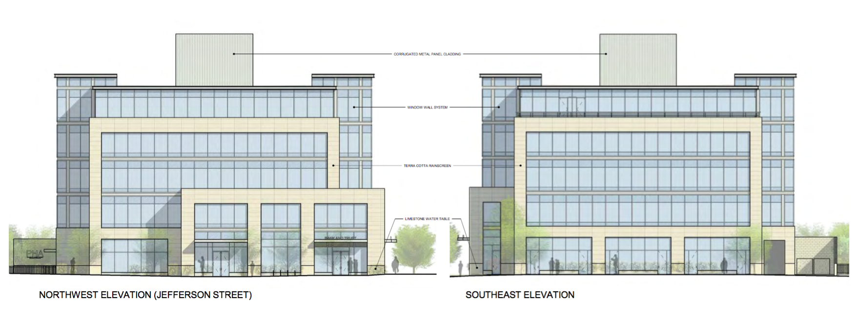 PHA Headquarters: Northwest and Southeast Elevations| BLTa, CDR presentation, Sept. 2016