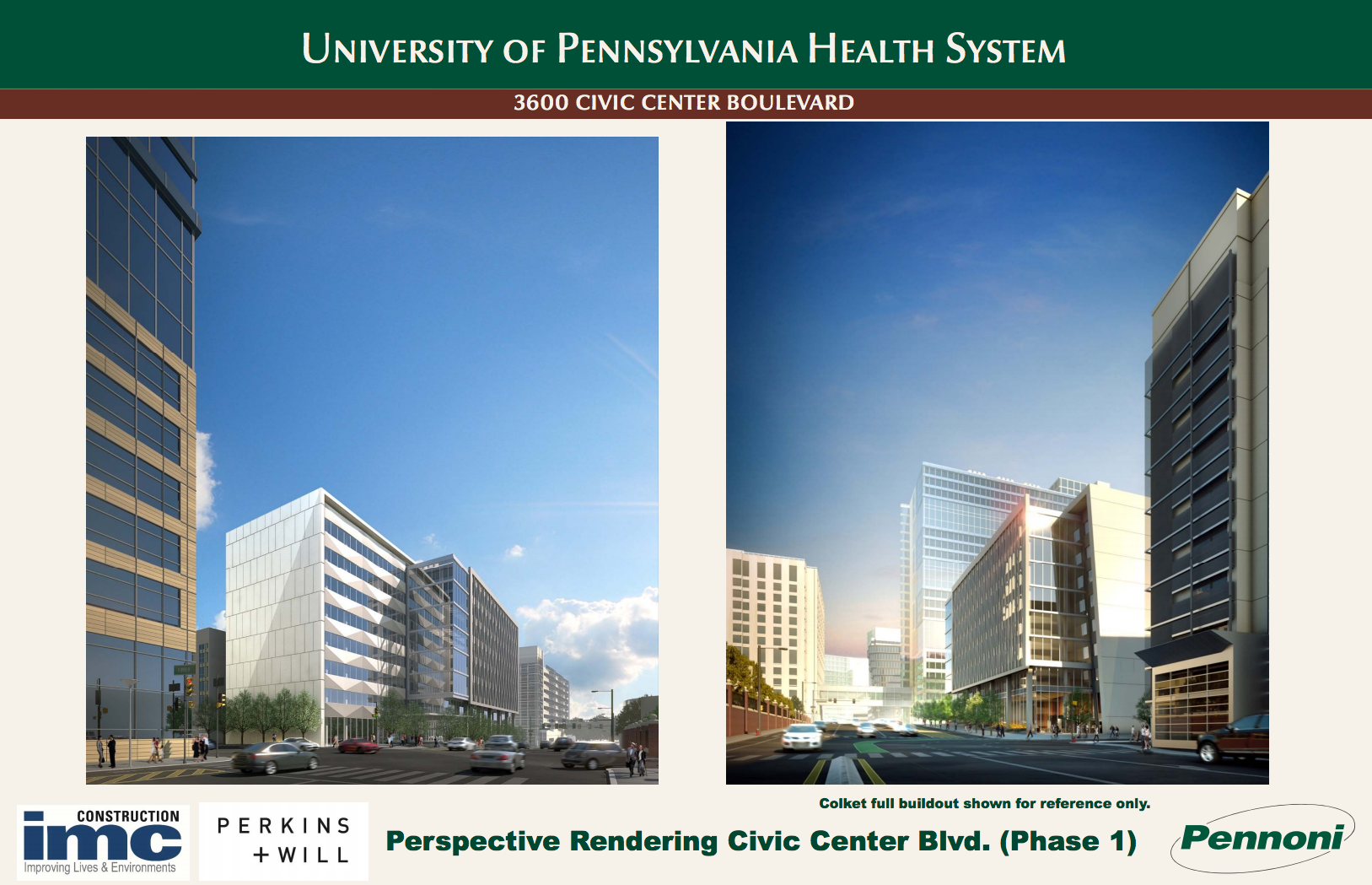 Phase 1 perspective: 3600 Civic Center Blvd | August 2016 CDR | IMC, Perkins + Will, Pennoni