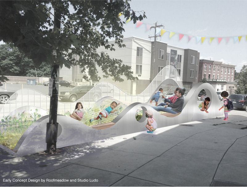 Play Parklet | Rendering by Roofmeadow and Studio Ludo
