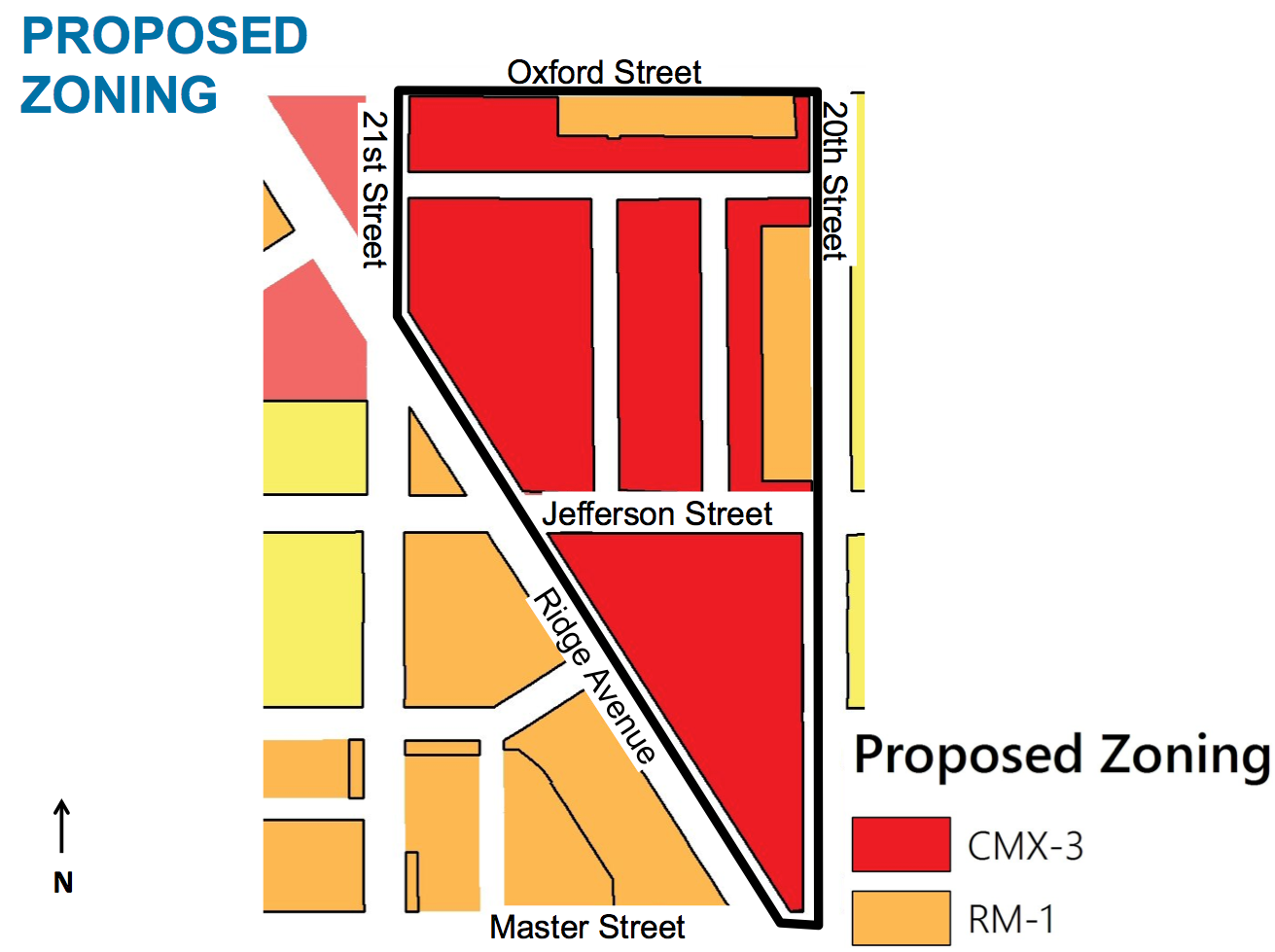 Proposed rezoning for PHA headquarters and Ridge Ave
