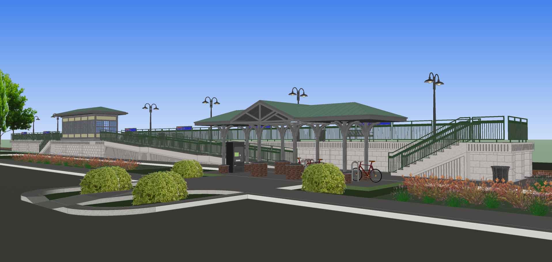 Rendering of 9th Street Station in Lansdale