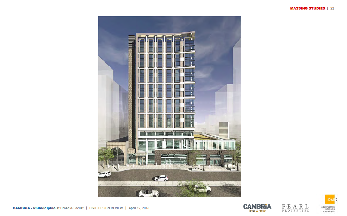 Rendering of Cambria Hotel | DAS Architects