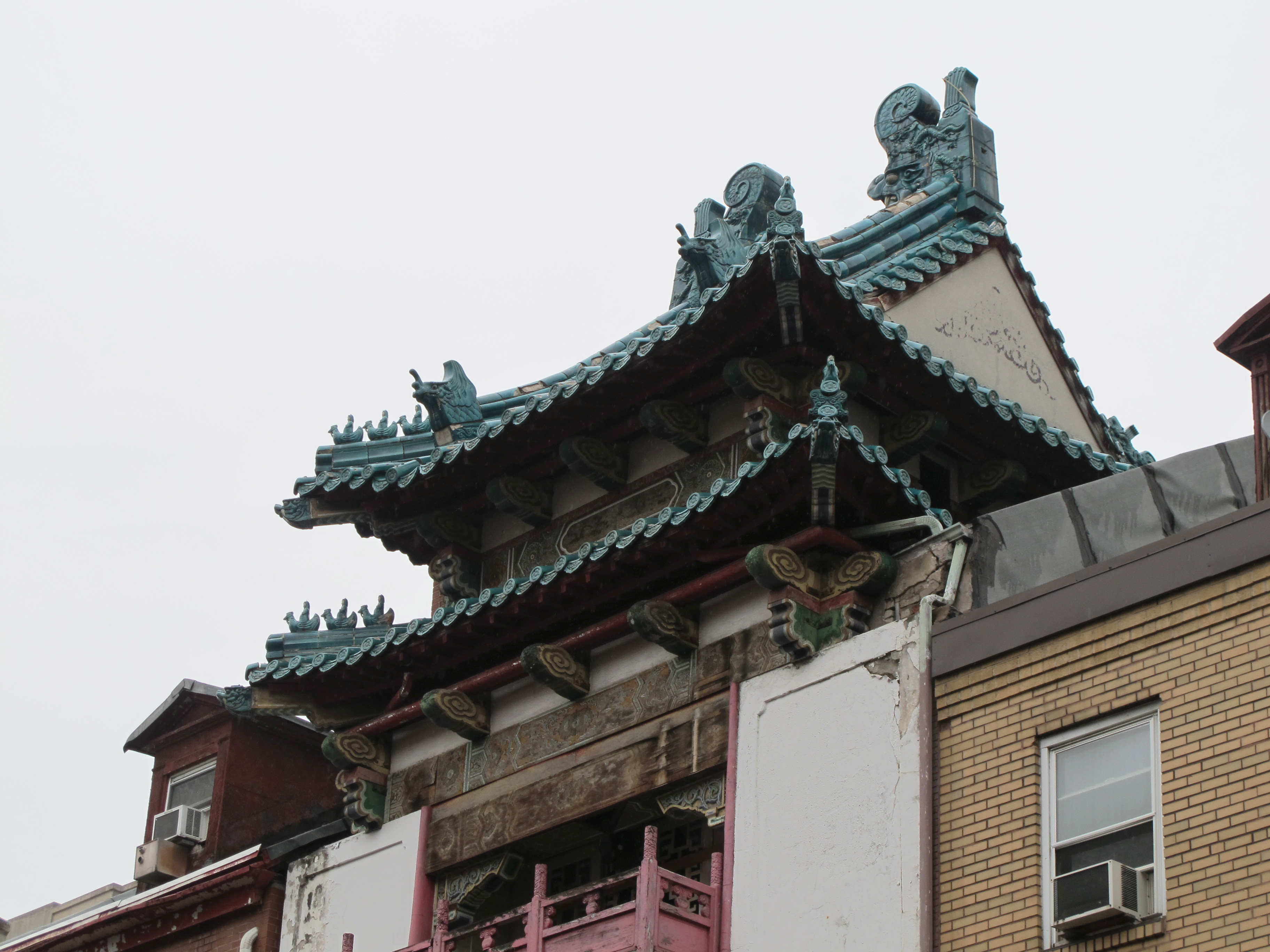 Roof detail, 125 N. 10th Street, May 2016
