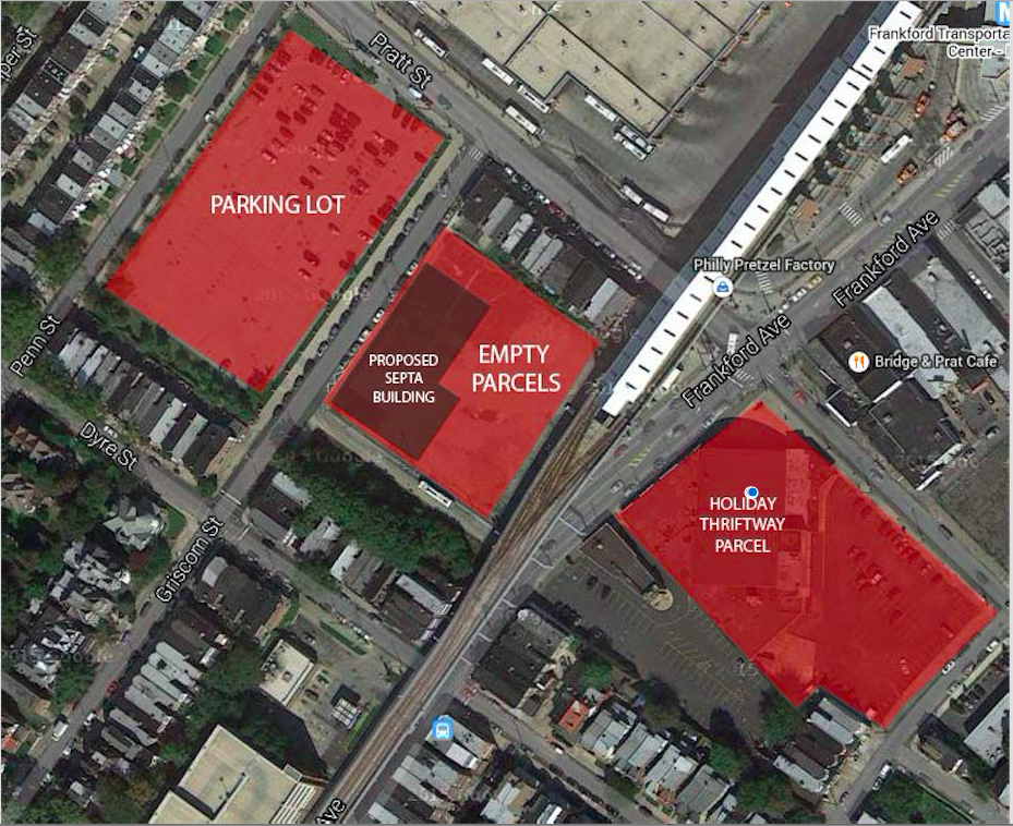 SEPTA Proposal for lot near FTC/Photo courtesy of Frankford CDC