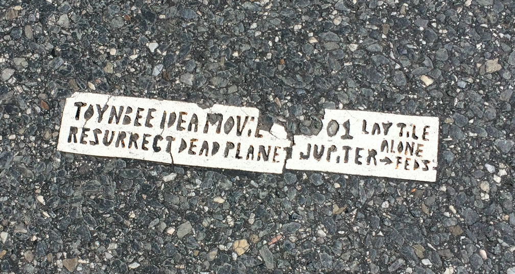 Small Toynbee Tile near Logan Square