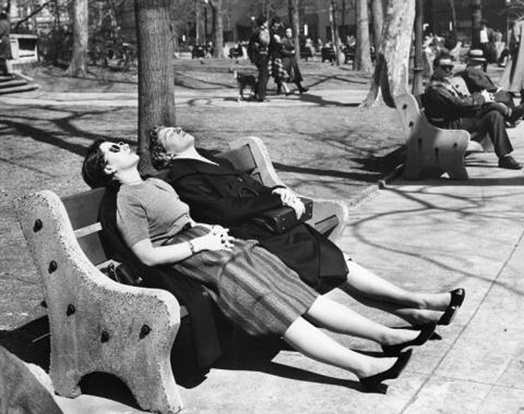 Sunning in Rittenhouse Square, 1961 | Evening Bulletin, Temple Special Collections Research Center, Temple University Libraries, Philadelphia, PA