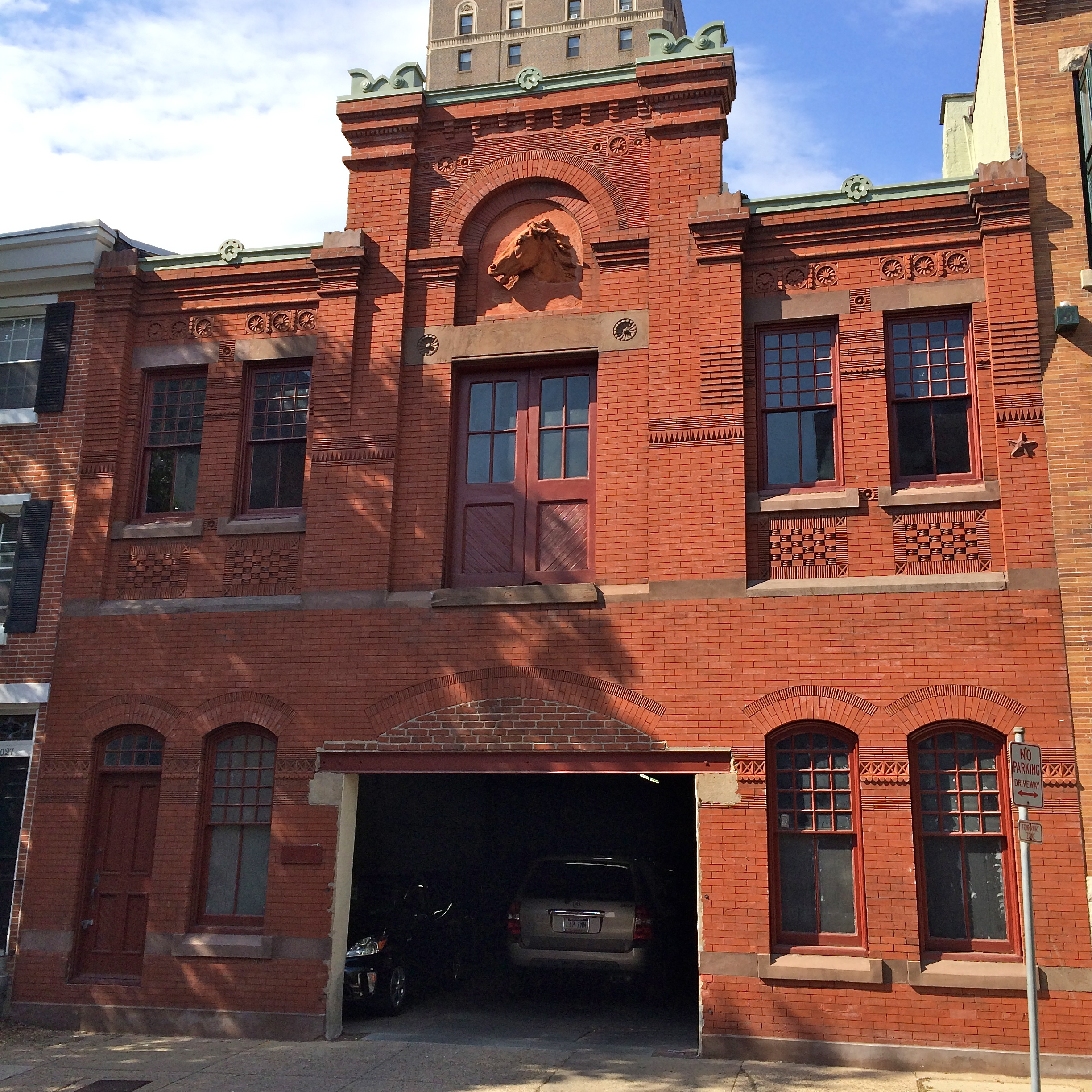 This horse stable turned garage on Rittenhouse Street is being converted to residential use.