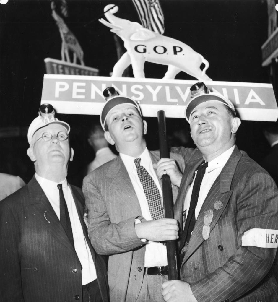 Three Pennsylvania delegates to the 1940 Republican Convention in Philadelphia | Evening Bulletin | Special Collections Research Center, Temple University Libraries, Philadelphia, PA
