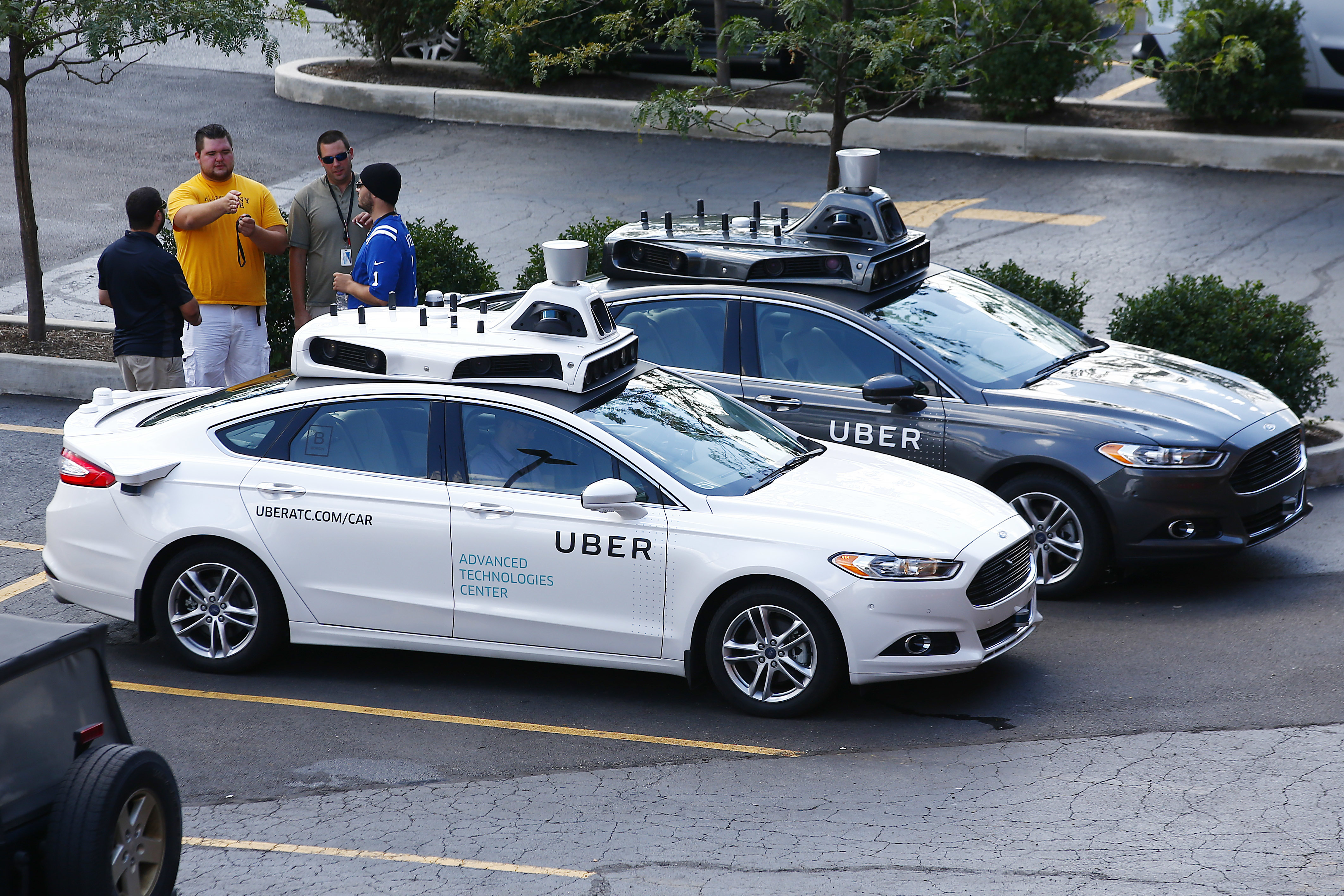 Uber's self-driving cars are being tested in Pittsburgh, August 2016 (AP Photo/Jared Wickerham)