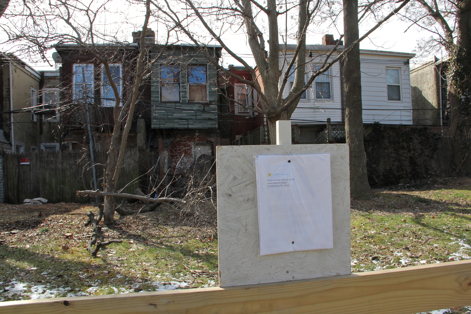 Vacant property condemnation by eminent domain, Sharswood, February, 2016 | Emma Lee/WHYY