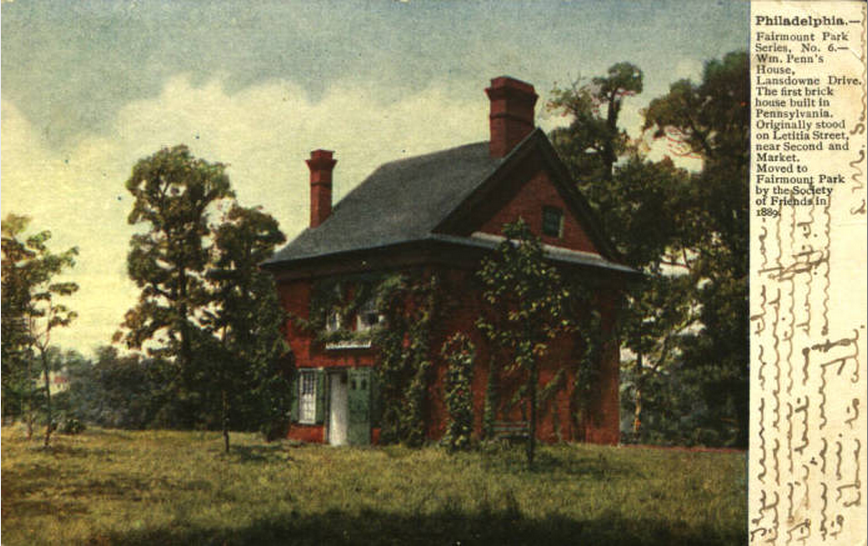 View of Letitia House (c. 1889) | Courtesy of Fairmount Park Conservancy