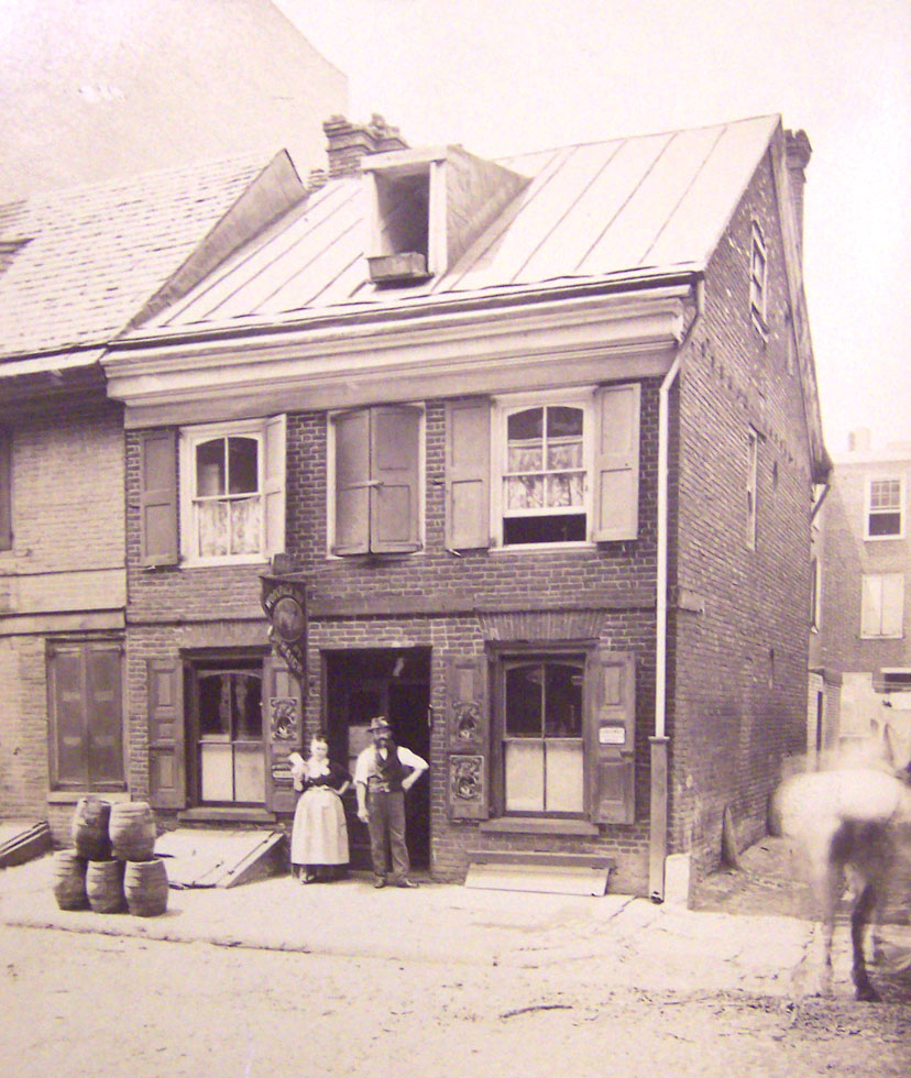 View of Letitia House in Old City, before its move for the Centennial Exposition | Courtesy of Centennial Parkside CDC
