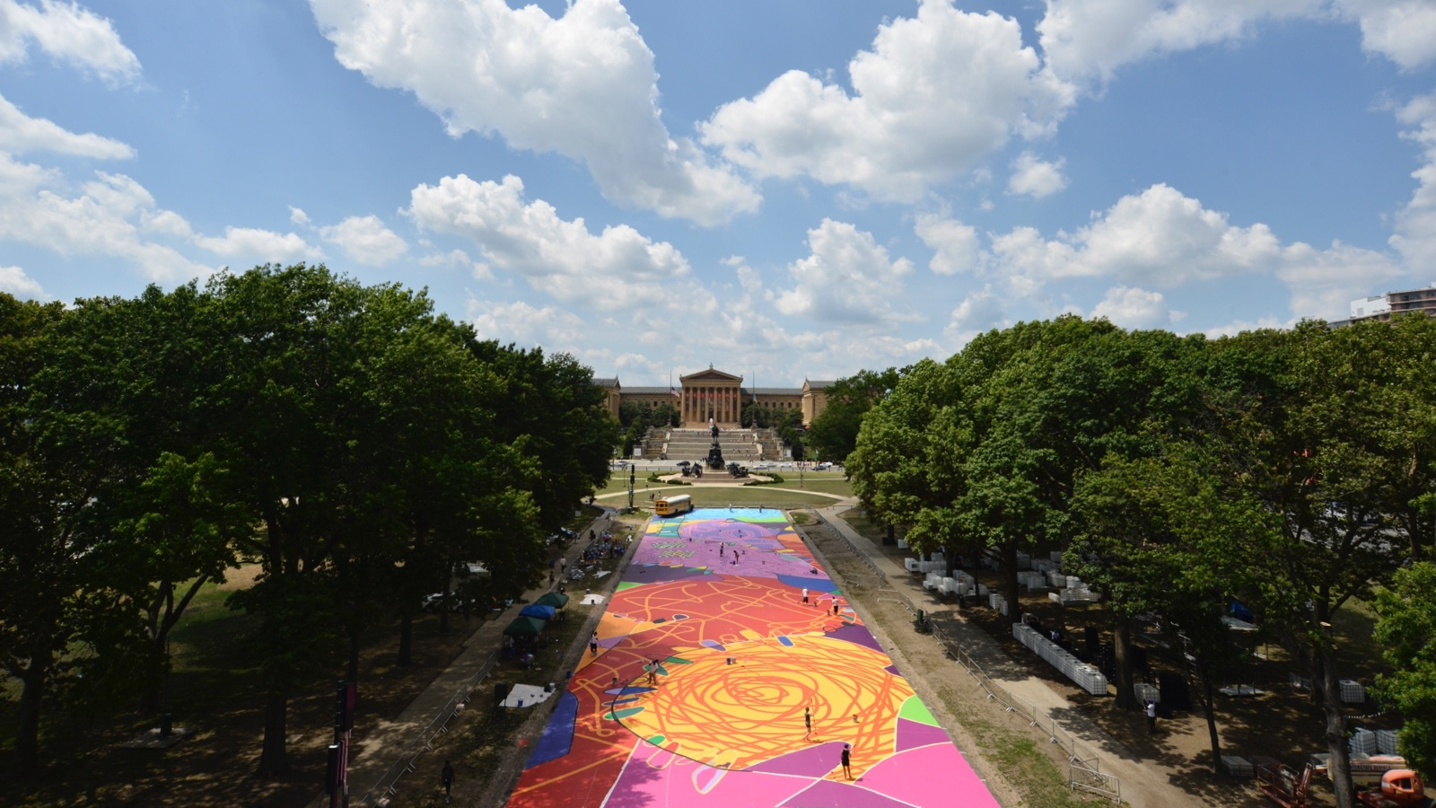 View on 'Rhythm & Hues' at Eakins Oval.  (Bastiaan Slabbers for NewsWorks)