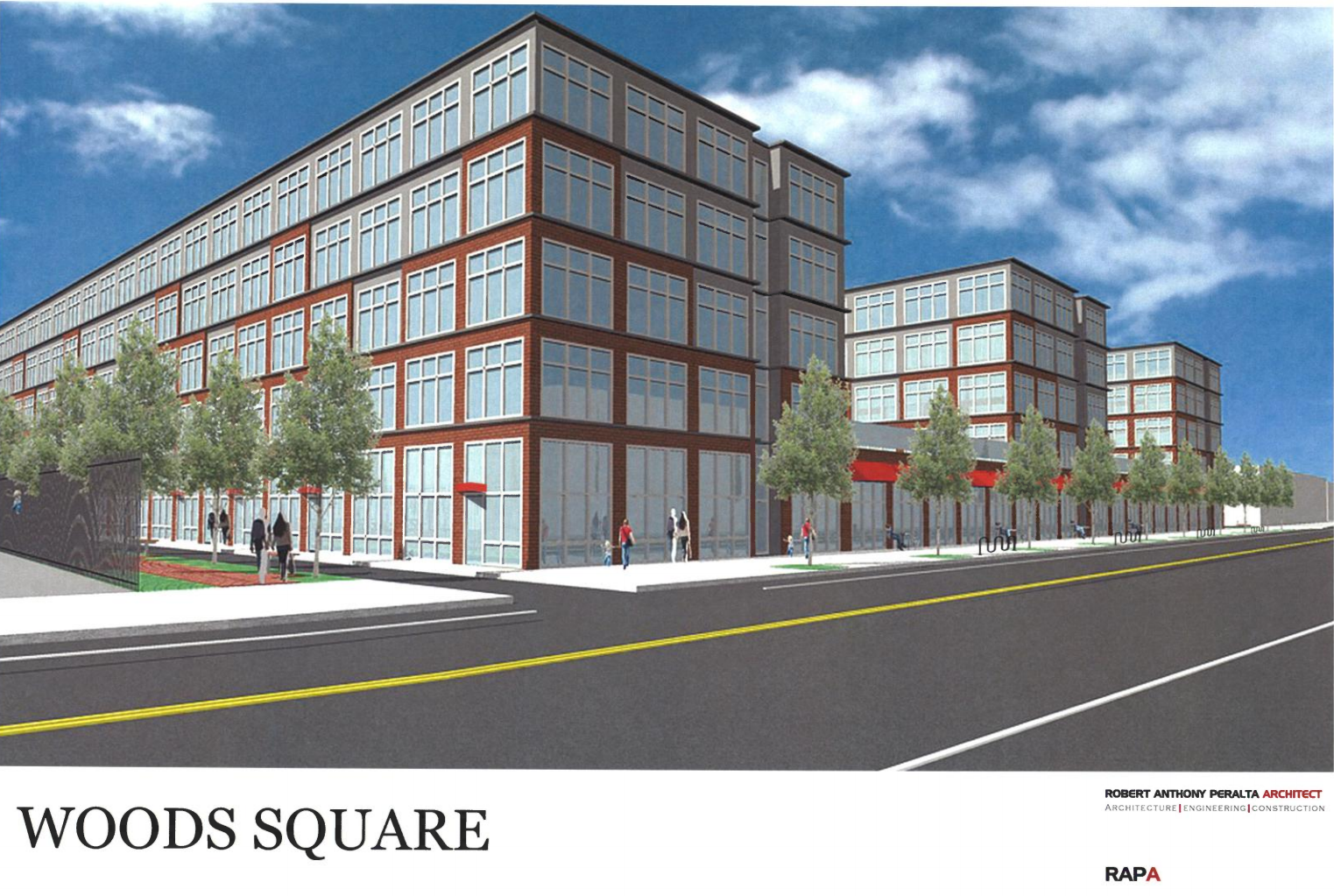 Woods Square rendering, August 2016 CDR presentation