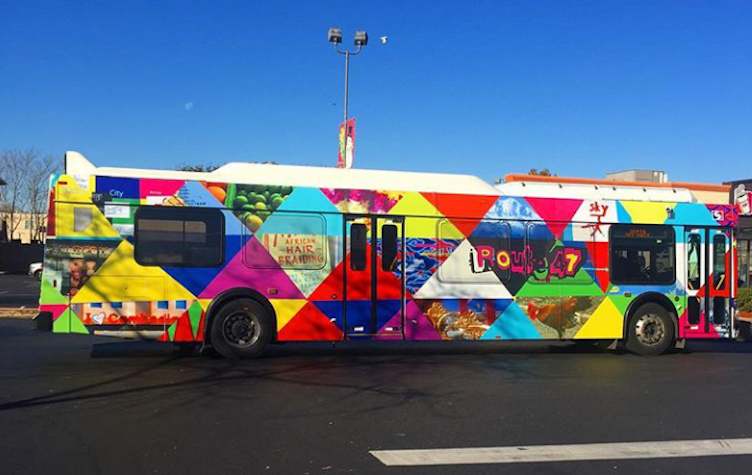 Wrapped Route 47 bus | courtesy of Shira Walinsky